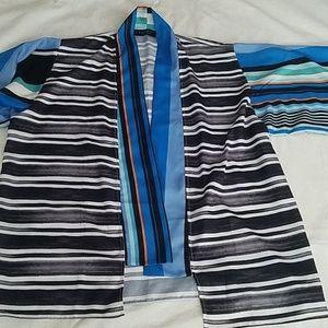 Laundry by Shelli Segal Large Sleeve Overshirt OS